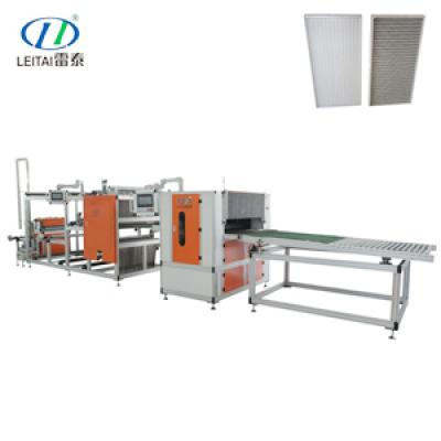 High Temperature Resistance HEPA Air Filter Pleating Machine with Glass Fiber Line Replace the Gluing Line,